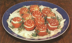 Tomatoes stuffed with fish
